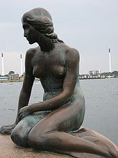 Sirenita The Little Mermaid Statue Copenhagen Denmark.jpg