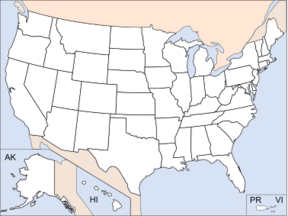 US locator map