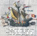 Detail from a map of Ortelius - Magellans ship Victoria.jpg